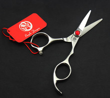 2016 High qualtiy 4.5/5 inch import 440C Zi personality hairdressing scissors barber scissors flat cut bangs cut with case 1pc