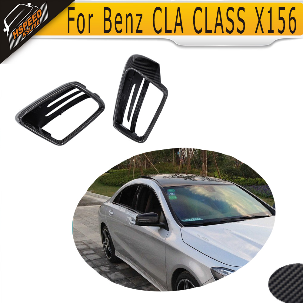 Carbon Fiber Car Side Mirror Cover For Mercedes Benz GLA Class X156 2014 2015 2016