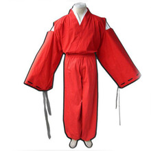 Adult Games Anime Inuyasha Cosplay Costume Red Samurai Halloween Party Carnival Tops Pants Set
