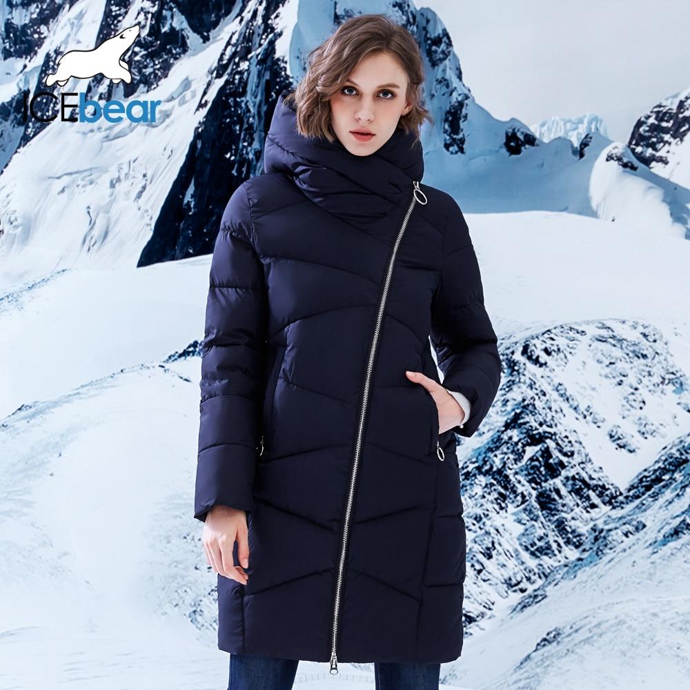 ICEbear 2018 nuevo estilo Casual de chaqueta de invierno de las mujeres con capucha abrigo espesar abrigo Parka B17G6102D