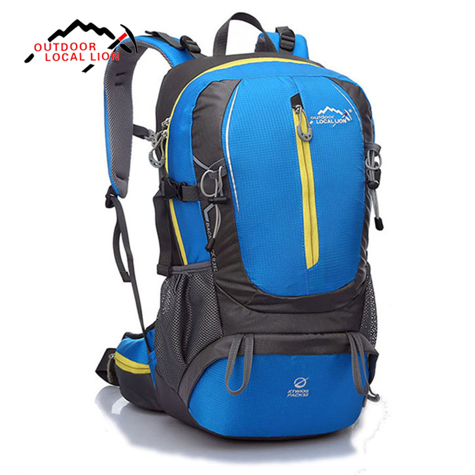 LOCAL LION Outdoor Climbing Cycling Backpacks 35L Waterproof Ultralight Camping Travel Hiking Mountaineering Sports Backpack outdoor sport bag local lion 5l camping backpack hiking riding climbing bags reflective multifunction bike cycling backpack