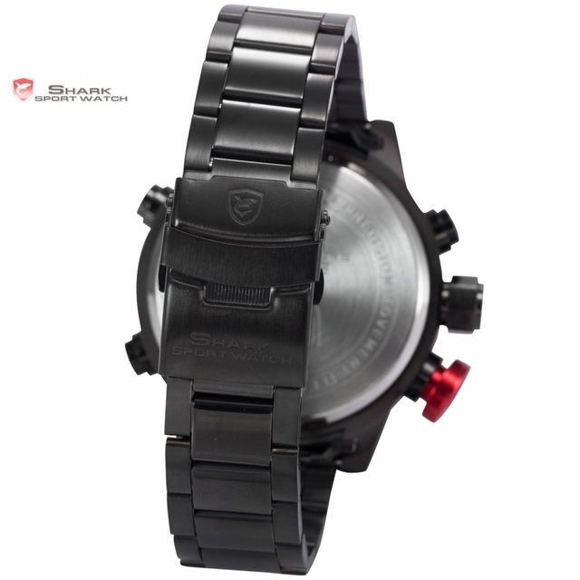 SHARK Sport Watch Calendar Digital Army Quartz Military LED With Luxury Package 5