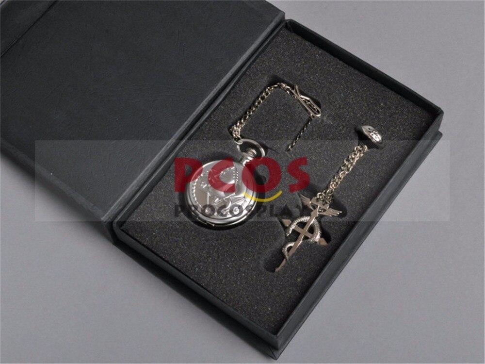 Fullmetal Alchemist Pocket Watch & Necklace & Ring Edward Elric Cosplay Mp000919