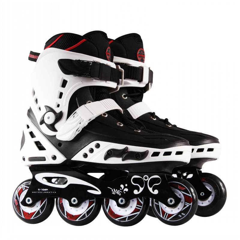 Professional Slalom Inline Skates Street Brush Adult Roller Skating Shoes Sliding Free Style Patines Adulto Original FS MT IA19 labeda slalom inline skates 4 wheels adult skating shoes with rocking type pu wheels for free skating sliding street skating