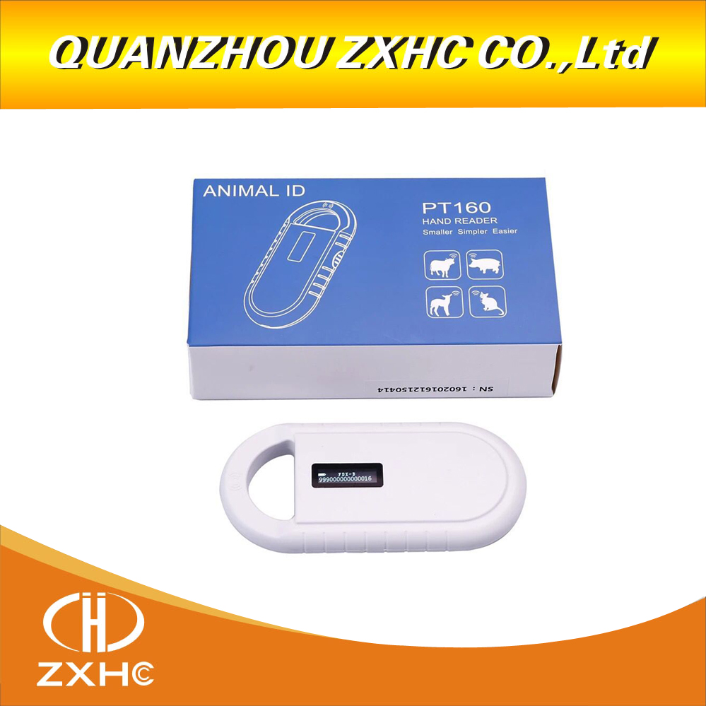 Portable OLED Display RFID ISO11784-11785 134.2Khz FDX-B Microchip Reader Scanner for Dog-Cat