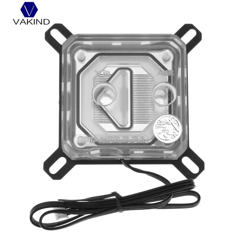 VAKIND CPU-XPR-B-PA CPU Water Block Jet Type RBW Lighting System CPU Microwaterway Water Cooling Block цена 2017