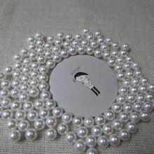 No tiene agujero blanco perla Accesorios Para el Cabello diy alta imitación perlas belleza del teléfono de DIY esencial 4mm-20mm 50g