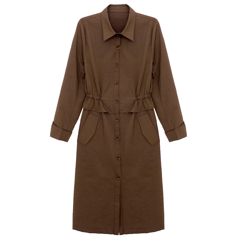 2018 New Fashion Designer Brand Classic Solid   Trench   Coat khaki Black Double Breasted Women real photos