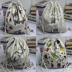 Drawstring сумка милый унисекс рюкзаки Ретро сумка на шнурке с рисунком Рюкзак для женщин Милые 3D Crazy Head печатных мешки с Кулиской