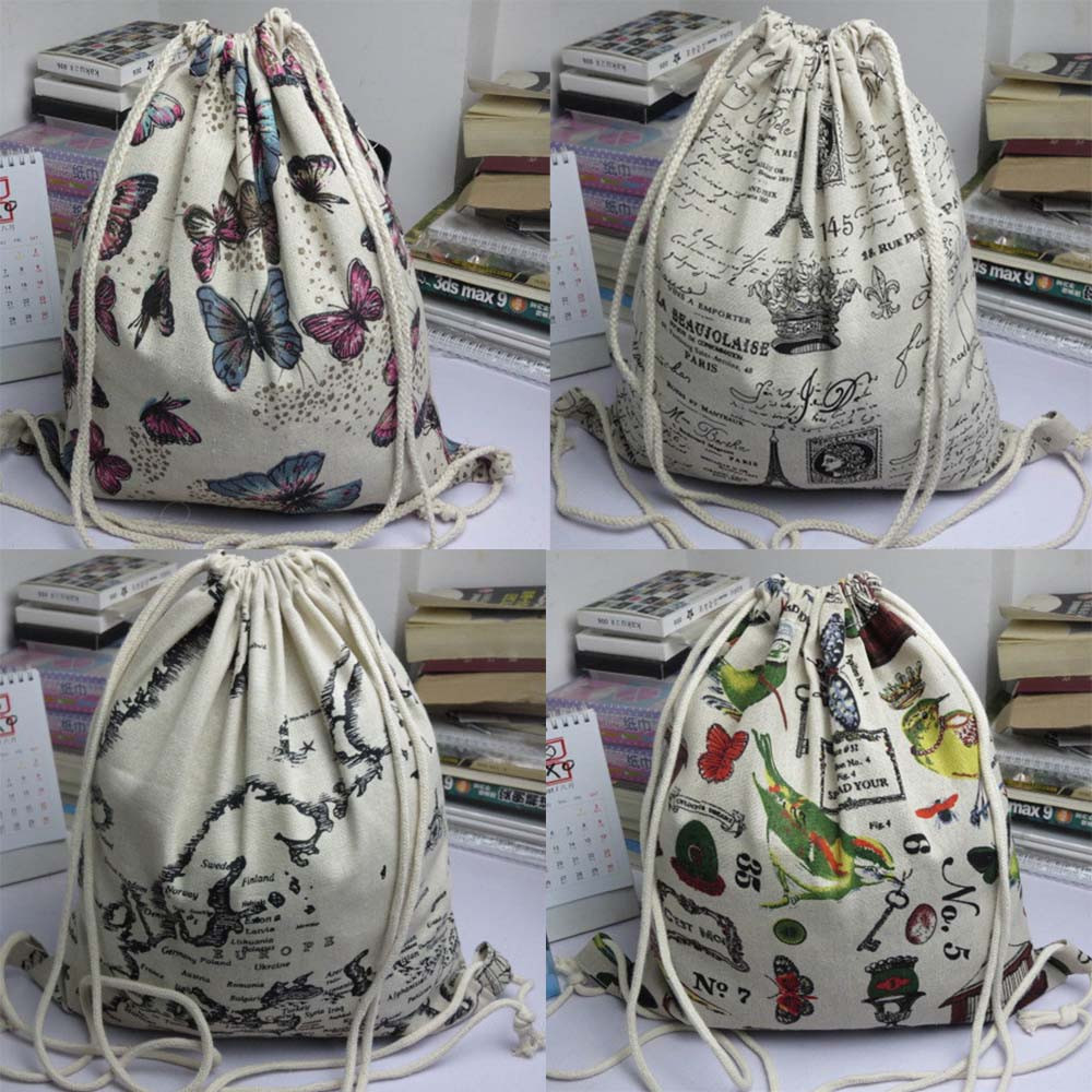 Drawstring Bag Cute Unisex Backpacks Retro Printing Bags Drawstring Backpack Women Cute 3D Crazy Head Printed Drawstrings Bags.5