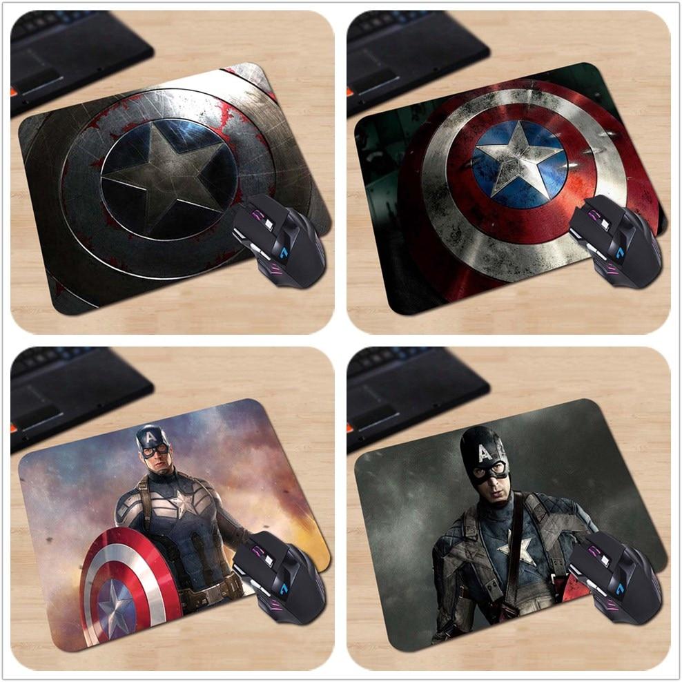 Babaite Captain America musemåtter 180 * 220 * 2mm eller 250 * 290 * 2mm Desktop computer musemåtte Gaming Mouse pad Gratis forsendelse