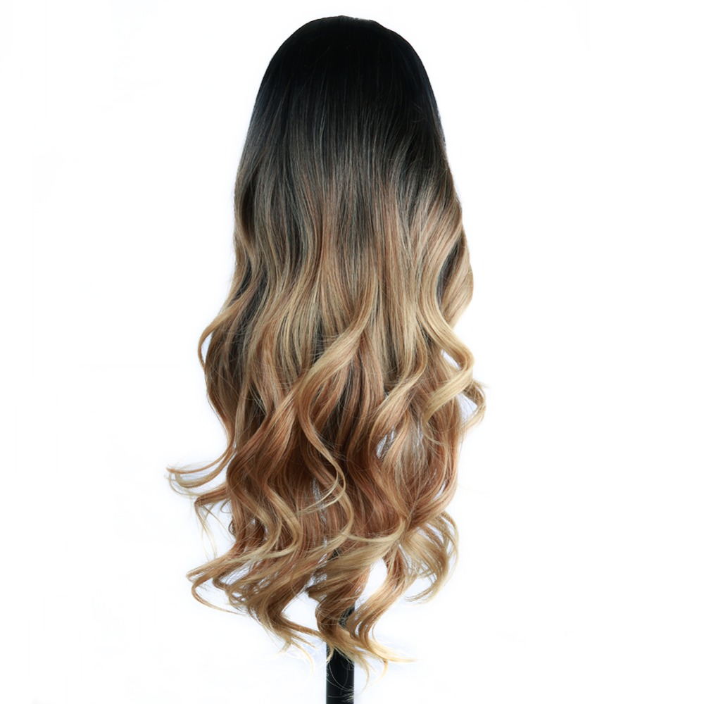 FAVE Synthetic Hair Wig Long Wavy Wig Ombre Brown High Density Heat Resistant For Black/White Women Cosplay/Party Cosplay Wigs