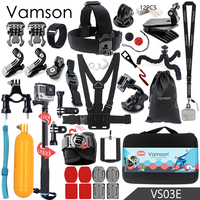 Vamson For Gopro Hero 5 Accessories Set Large Collection Box Monopod For Gopro Hero 5 4