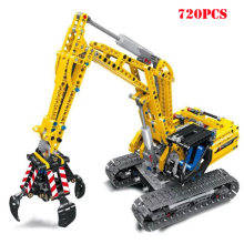 2 in 1 City Excavator Engineering Truck Building Blocks Compatible Legoed Technic Bricks Educational Toy For Child Birthday Gift(China)