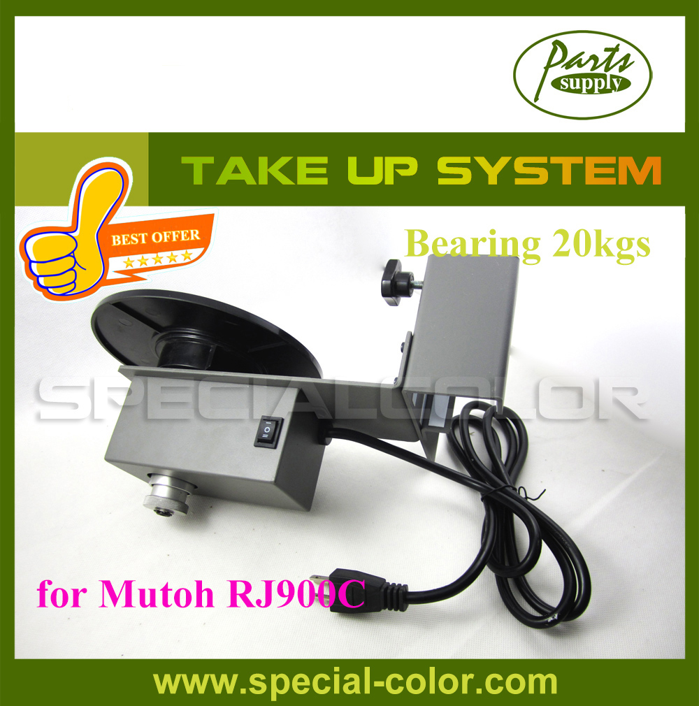 Best Offer! Mutoh RJ900C Printer Paper Collector Automatic Take Up Kit Printer Paper Roller best price 5pin cable for outdoor printer