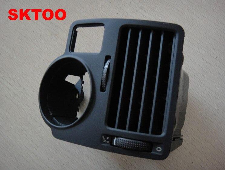 SKTOO For VW bora golf 4 instrument air outlet central air-conditioning air outlet,air conditioning vent 2017 car dashboard console central air conditioning ventilation grille air outlet trim for vw jetta 4 bora mk4 1998 2005