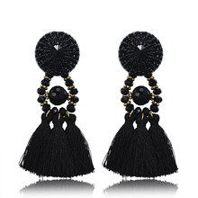 Steampunk diy long earrings women's crystal Rhinestones earrings Boho Earring Vintage earrings tassel fashion jewelry E660