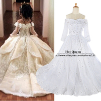 Princess Pageant Dresses For Girls Glitz 2016 Flower Girl Dresses Ball Gown First Communion Dresses For