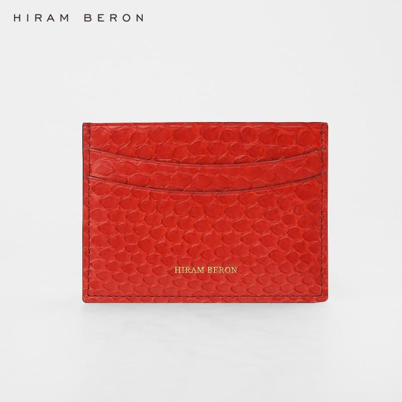 Hiram Beron NOM FAIT SUR COMMANDE LIBRE portefeuilles pour femmes carte de crédit portefeuille style de mode Python Peau titulaire de la carte sac cadeau pour vacances