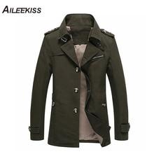 100% Cotton Army Coat Men England Style Slim Fit Autumn Casual Windbreaker Classic 3D Cutting Men's Plus Size Jacket 5XL XT322