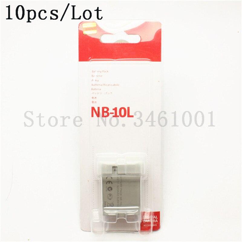 10pcs lot NB 10L Battery NB10L NB 10L Batteries For Canon PowerShot G1X G15 SX40HS SX50HS
