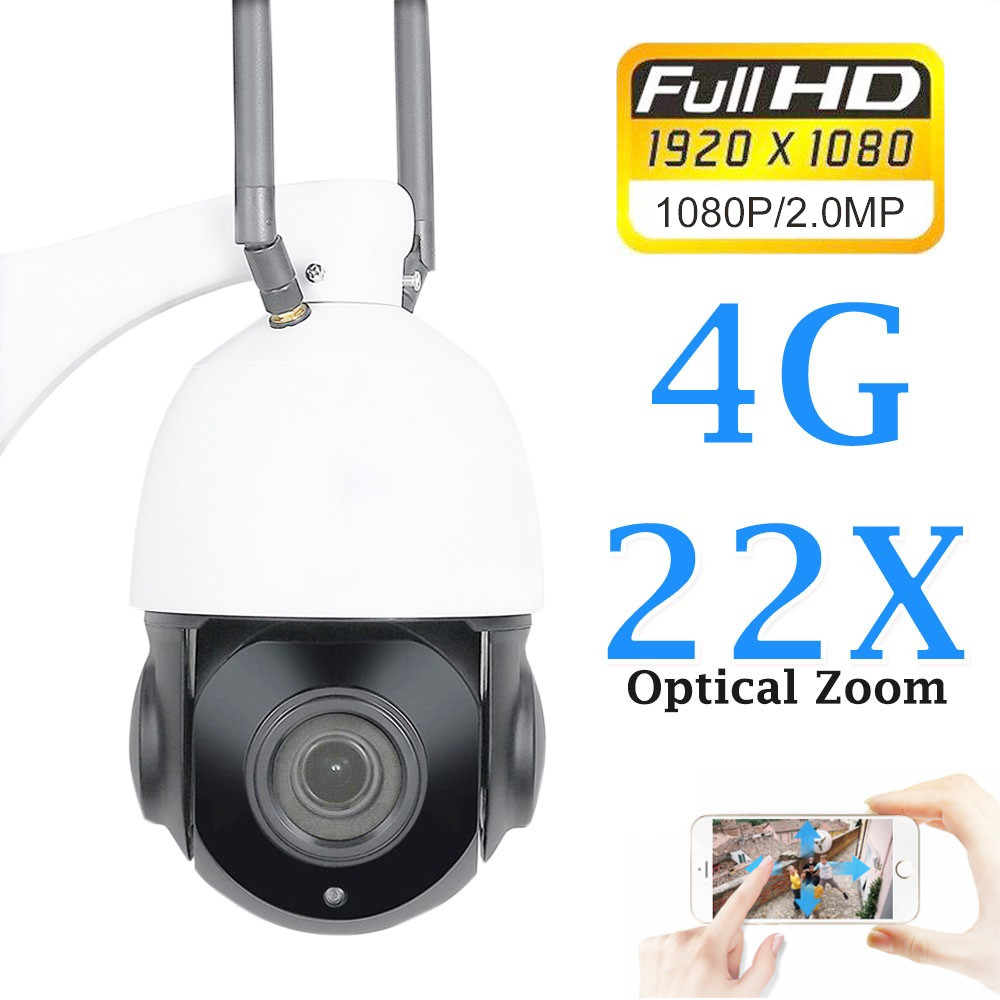 ZILNK 1080 P 4G PTZ caméra IP Wifi 3G carte SIM dôme 22X Zoom optique sécurité sans fil caméra Audio nuit vidéosurveillance