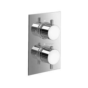 Image 3 - עגול סגנון הסתיר תרמוסטטי מיקסר Valve כף יד אמבטיה מוצר אמבטיה מקלחת סט 2 חיוג 2 דרך מודרני מקלחת מערכות