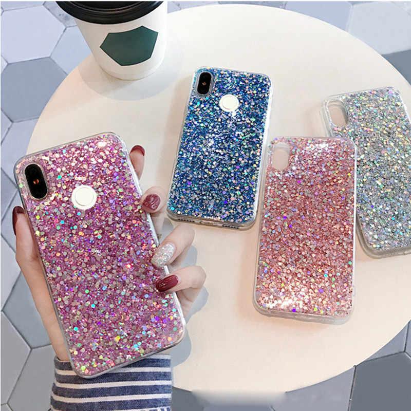 62310b7716 Glitter sparkling soft case For redmi note 6 case For redmi note 6 ...