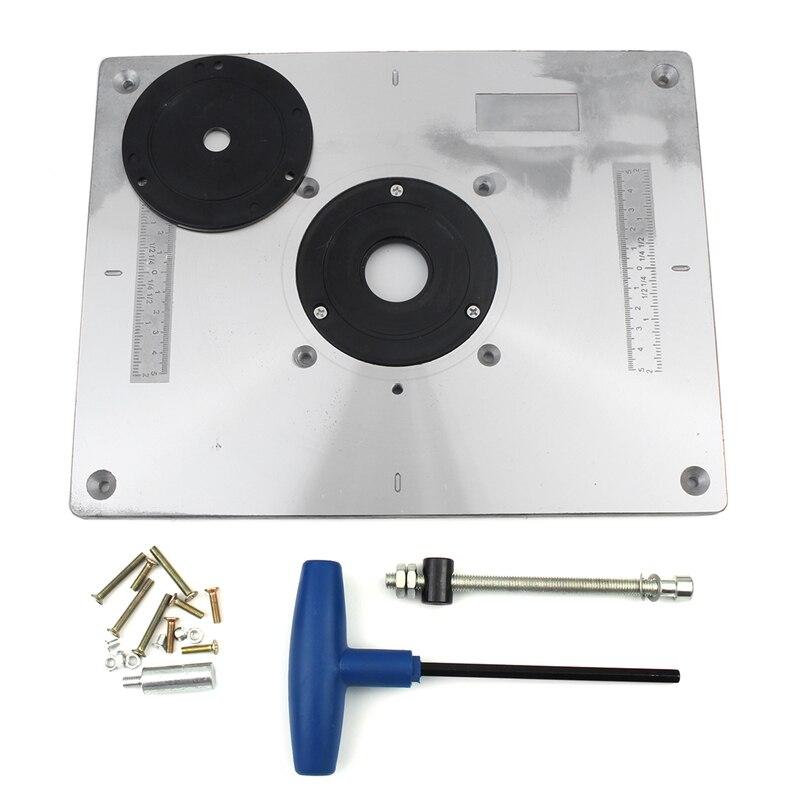 Алюминий таблице маршрутизатора вставить пластина для Популярные маршрутизатор триммеры модели engrving машина DIY Столы для деревообработки