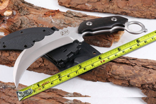 High Quality L.W Karambit Tactical Survival Knife,440C Blade Ebony Handle Camping Knife,Hunting Fixed Knives.VG-10