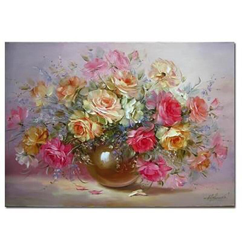 A buon mercato Moderno Dipinti Home Decor vaso di Fiori immagine Della Parete della Pittura A Olio 100% Dipinto A Mano su tela Senza Cornice