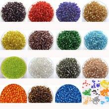 3000 шт стеклянные бусины 2 мм разделительные для рукоделия