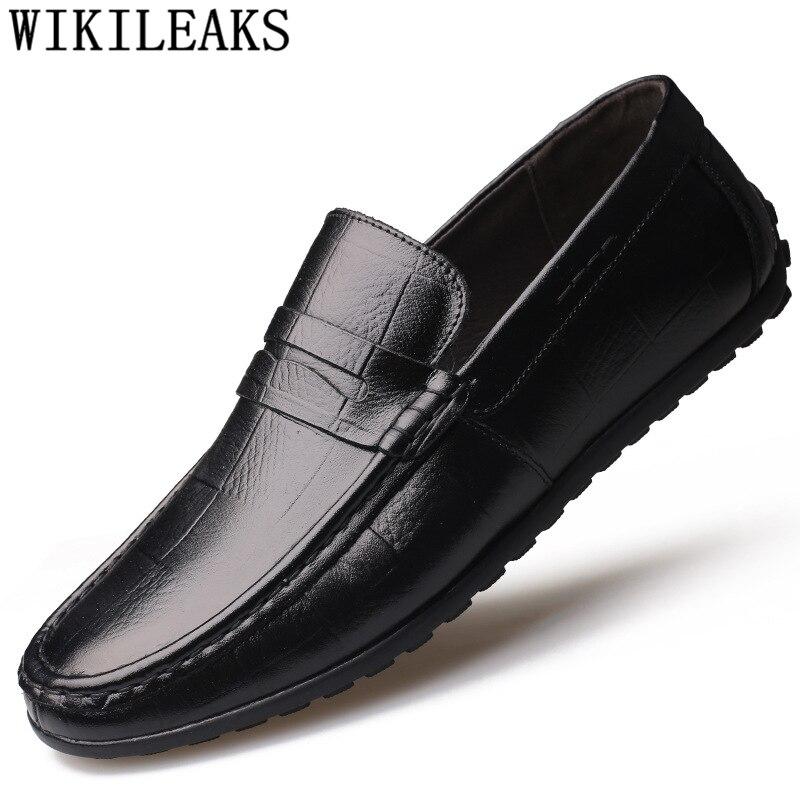Chaussures de conduite décontractée hommes mocassins en cuir véritable hommes chaussures de luxe marque designer chaussures hommes de haute qualité zapatillas hombre bona
