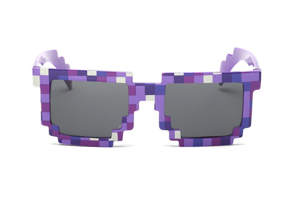 Модные солнцезащитные очки 5 цветов, детские игрушки для костюмированной игры, квадратные солнцезащитные очки для мальчиков и девочек, подарок на день рождения - Цвет: Purple