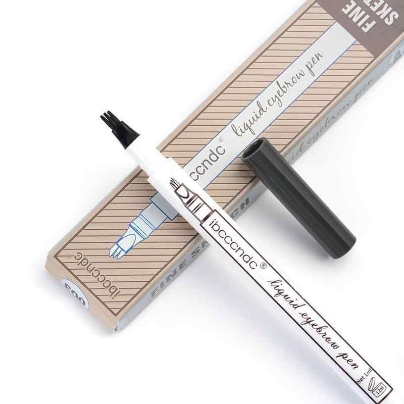 3 ألوان Microblading الحاجب قلم الوشم غرامة رسم السائل الحاجب القلم للماء لطخة الوشم دائم العين قلم حواجب