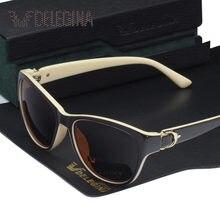 0d25a734c9 Nuevo vintage gafas de sol polarizadas señoras gafas de sol para mujer  oscuro Solar tonos UV400 gafas lentes con caja