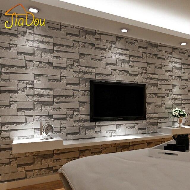 Aliexpress.com : Gestapelte Ziegelstein 3D Wallpaper Moderne ...