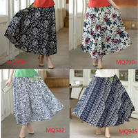 Free Shipping Blend Linen Long Skirt Spring Summer Skirts Chinese Style Bohemian Skirts Casual Bandage Skirt