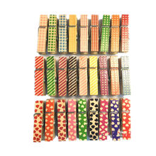 50pcs Mini Colorful Natural Small Mine Size Mini Natural Wooden Clips for Photo Clips Clothespin Craft Decoration Clips Pegs(China)