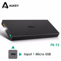 Original Aukey 16000mAh Power Bank QC 2 0 External Battery 2USB Ports Powerbank For IPhone Xiaomi