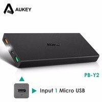 Original Aukey 16000mAh Power Bank QC 2 0 External Battery 2USB Ports Powerbank For IPhone Xiaomi