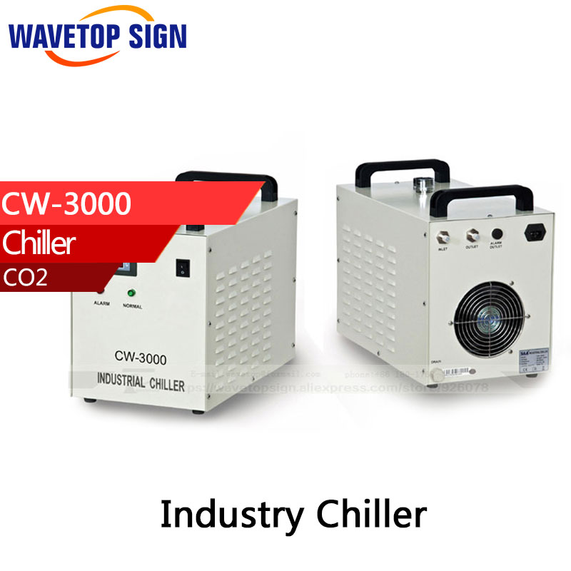 S&A CW3000 Industry Air Water Chiller for CO2 Laser Engraving Cutting Machine Cooling  60W 80W купить
