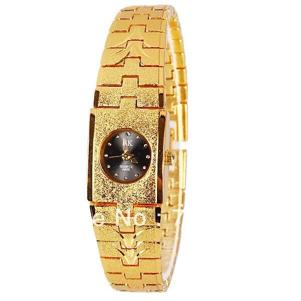 Original PictureBK Quartz Watch with Dots Indicate Steel Watchband for Women - Gold