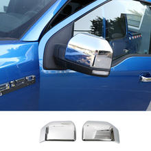 цена на Side Mirror Frame ABS Chrome Rearview Cover Trim for Ford F150 F-150 2016 2pcs