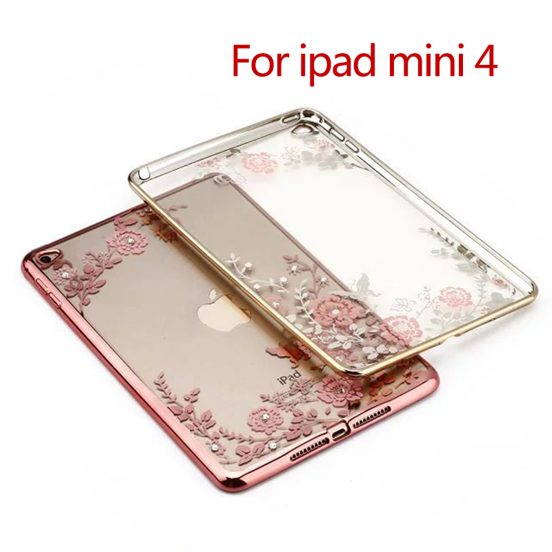 Fashion flower Soft TPU rubber Silicone Gel Case For Apple iPad Mini 4 Protective Luxury Tablet Bags Back Cover Y2D58D for ipad mini silicone case soft tpu back case bottom case cover for 7 9inch apple ipad mini 1 2 3 4 tablet case for mini ipad