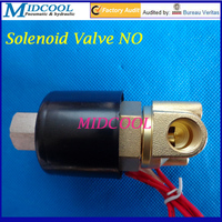 De agua Valvula Normally open type 2W025 series ac 220V 2W025 08H NO 1/4 Solenoid Valve for air water oil