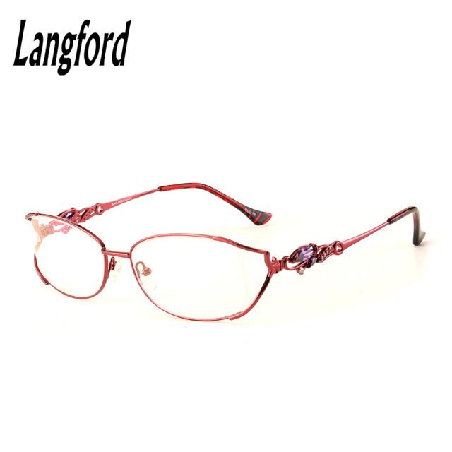 Mulher grande quadro completo Vidros do Olho Moda Lady Oval altura 33mm75038 Optical óculos de ouro