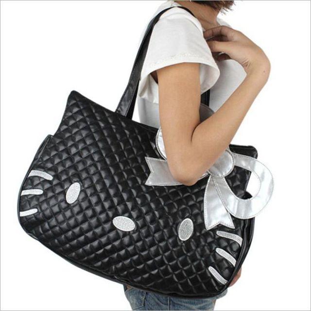 b2c5c659db1b Women Handbags Hello Kitty 3D Cartoon Women Handbags for Girls Leather Bags  Cute Cat Anime Shoulder Bag for Teenagers Travel Bag