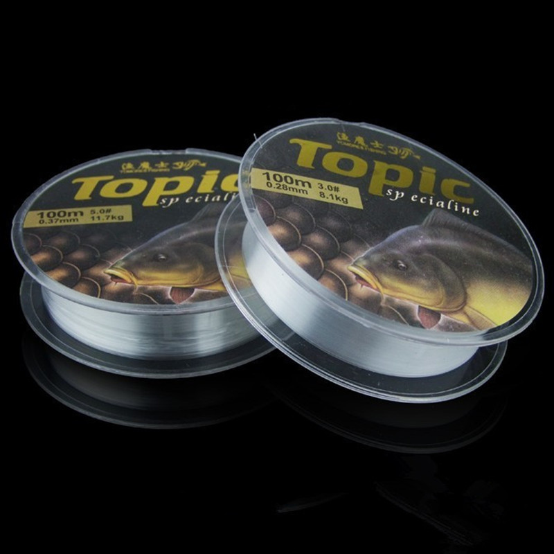Monofilament Fishing Line, Nylon Mono Line Fishing String 100M with Zero Memory for Freshwater and Saltwater