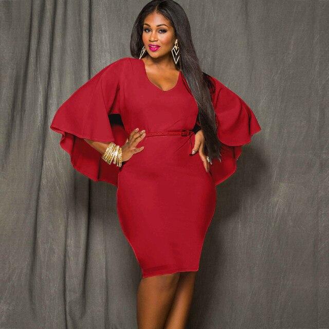 f59a100a16 US $9.98 40% OFF|Aliexpress.com : Buy Fashion Women Plus Size 3XL Cape  Dress Draped Cloak Solid Bodycon Party Pencil Summer Dresses Midi 2019 New  ...